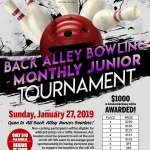 Back Alley Bowling Monthly Junior Tournament
